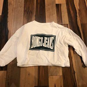 BONGO jeans cropped sweatshirt